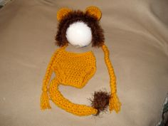Newborn baby infant boy girl Lion hat and by JoAnnebabycreations, $26.99