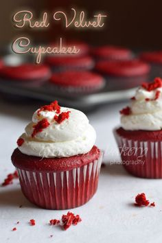 The best recipe for red velvet cake layers is here. Go on to fill with cream cheese buttercream the Gretchen's Bakery way or even make them into cupcakes Cupcake Recipes, Baking Recipes, Cupcake Cakes, Dessert Recipes, Gourmet Cupcakes, Cake Cookies, Vegan Recipes, Yummy Treats, Delicious Desserts