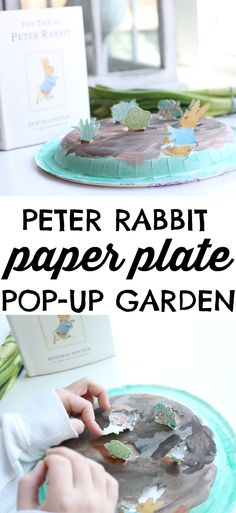 Such a cute activity to make after reading The Tale of Peter Rabbit by Beatrix Potter!  Love this Paper Plate Pop-Up Garden!