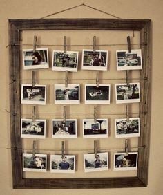 Rustic DIY Photo Display Frame | DIY Cozy Home