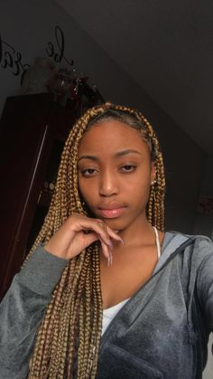 Top 60 All the Rage Looks with Long Box Braids - Hairstyles Trends Brown Box Braids, Colored Box Braids, Short Box Braids, Blonde Box Braids, Jumbo Box Braids, Fun Braids, Box Braids Hairstyles, Baddie Hairstyles, My Hairstyle