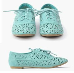 laser cut oxfords with a bit of great color