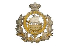 Badge. Indian Army. 9th Madras Native Infantry Victorian Officer's helmet plate. A good scarce di