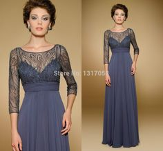 Photo : Elegant A Line Empire Scoop Lace Mother Of The Bride Dress ...