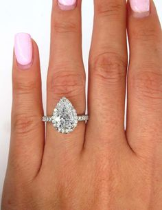 For Sale on - SUPER Elegant Timeless Micro Pave Platinum (stamped) Diamond Halo PEAR Diamond ring from our Estate Collection. The Center diamond is J color, Pear Diamond Rings, Pear Shaped Diamond, Halo Diamond, Diamond Tops, Pear Cut Engagement Rings, Wedding Engagement, Platinum Ring, Brilliant Diamond, Wedding Rings