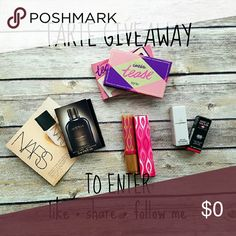 TARTE GIVEAWAY! WINNER UPDATE The winner will receive everything pictured plus a Smashbox photo finish primer sample.  1) Tarte Tartlette Tease  2) Tarte Glamazon Pure Performance 12-HR lipstick in Foxy  3) Makeup Forever Lipstick Sample 4) Burberry Perfume Sample 5) Dolce & Gabbana Men's Cologne in Intenso 6) NARS Foundation Sample  To enter: like & share this listing and follow me!  The winner will be announced 9-30! AND THE WINNER IS...... @workinmama 🎉 I'll contact you with more info…