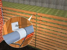 3 Ways to Add Privacy to a Chain Link Fence - wikiHow backyard design diy ideas Chain Link Fence Cover, Chain Link Fence Privacy, Chain Fence, Diy Privacy Fence, Diy Fence, Backyard Fences, Backyard Landscaping, Fence Ideas, Patio Fence