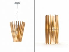 Stick collection by Matali Crasset for Fabbian Illuminazione reminds me of the plywood bed slats