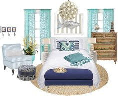 """""""Beach Bedroom"""" by mbtherrell on Polyvore"""