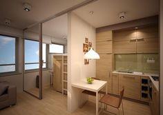 micro apartment in Wrocław (Poland)