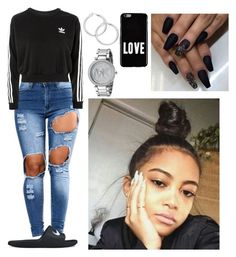 """""""Untitled #548"""" by queen-ayanna on Polyvore featuring adidas, NIKE, Michael Kors and Givenchy"""
