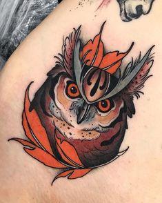 Traditional Tattoo Arm, Traditional Tattoo Old School, Neo Traditional, American Traditional, Old Tattoos, Body Art Tattoos, Sleeve Tattoos, Tattoo Ink, Owl Tattoo Design