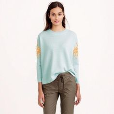 J.Crew Sequin Floral Sweater      http://iwanttowearthat.com/j-crew-sequin-floral-sweater/
