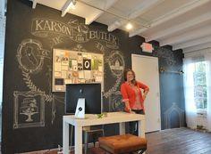 Karson Butler Events Design Studio Chalkboard Wall with Anchor B