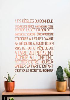 wall sticker French