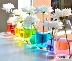 arranjos de flores para casamento colorido