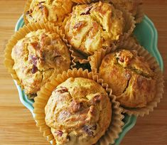 These tangy and citrusy Sweet Potato Muffins with Candied Ginger are great for breakfast and additionally pair perfectly with a savory meal. Sweet Potato Muffins, Sweet Potato Breakfast, Sweet Potato Recipes, Breakfast Muffins, Yam Bread Recipe, Bread Recipes, Fun Desserts, Dessert Recipes, Peanut Butter Breakfast