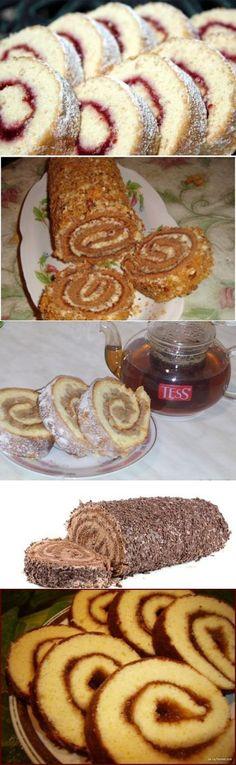 Рецепты быстрых рулетиков к чаю » В сети – себя просвети!