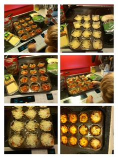 This idea came from a recipe I saw on Pinterest. I altered it a little. Lasagna was the one I saw. I made these with extra virgin olive oil, gluten free won tons, pizza sauce, mini pepperonis & mozzarella cheese. I made two layers & my 2 yr old helped. Fun Saturday afternoon lunch. My husband had 3, kids 1 & myself 2 it was plenty.