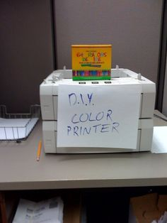 Next time a color copier goes down I am going to do this!