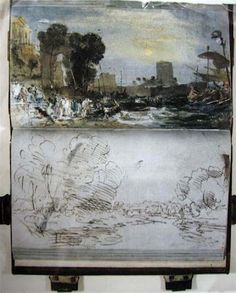 Turner sketch books.  Must go and visit the Turner room again.