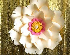 PDF Paper Flower Template with Base, DIGITAL Version - The Elvis - Original Design by Annie Rose - #8