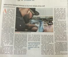 "Celebrity tattoo artist Sameer Patange became the ""resident inker"" at The Park Hyderabad this June!"