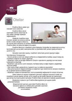 Otel otomasyon, oda servisi sistemleri. Hotel iPad menus  http://www.finedinemenu.com/