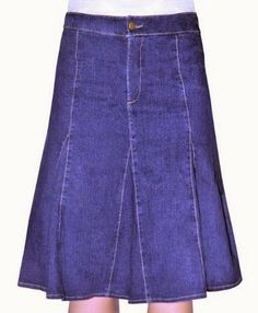 jean skirts. Kosher Casual Women's Modest Knee Length Flared Denim Skirt. This is a great skirt. It is a perfect fit. Great for the summer months. #skirts