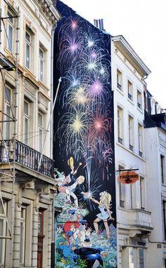Dany & Greg - street art - Bruxelles - rue du chêne