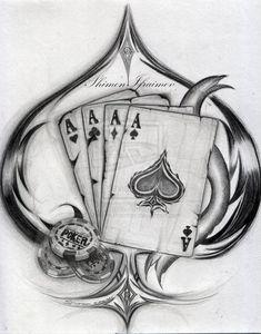 Kritzelei Tattoo, Luck Tattoo, Body Art Tattoos, New Tattoos, Sleeve Tattoos, Poker Tattoos, Henna Tattoos, Tatoos, Card Tattoo Designs