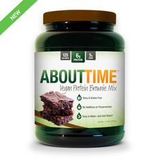"""Our VEGAN protein brownie mix is quick and easy! Simply """"Just ADD WATER"""" to this Gluten Free mix, stir and bake. Naturally sweetened with Stevia, our dairy free brownies are free of preservatives or additives. Want to buy single servings?"""