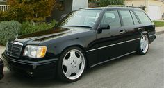 "W124 Wagon with 18"" AMG Monoblock II."