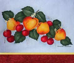Pano de prato com frutas