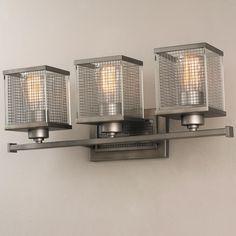 Graphite Cage Vanity Light - 3 Light 22W X 8.5H