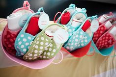"""Bun in the Oven Sprinkle :: Baby Shower Inspiration """"bun in the oven"""" baby shower theme – bright polka dotted oven mitts as party favors Baby Shower Favors, Baby Shower Games, Shower Party, Baby Shower Parties, Shower Gifts, Baby Showers, Bridal Shower, Bun In The Oven, Shower Inspiration"""