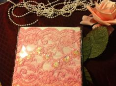 NEW! Victorian Style Stretch Pink w Sequins, Beads Lace BOOT CUFFS FREE SHIPPING