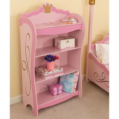 Our Kidkraft Wooden Princess Toddler Bookcase 76126 Will Give Your Plenty Of Room To Display Her Royal Treasures The