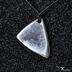 Steel guitar plectrum / pick - Stainless steel guitar pick necklace - Shark