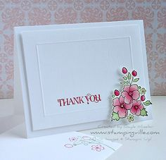 Stunning Clean & Simple Thank You Card