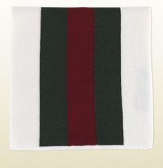 signature web white knit scarf