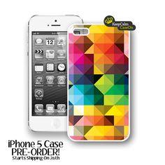 iPhone 5 Case, Geomentric Triangles iPhone Case Hard Fitted iPhone 5 Case, iPhone 5 Hard Case