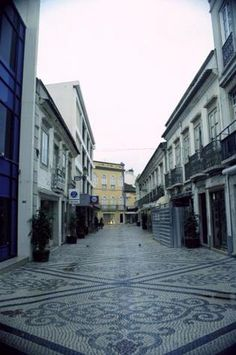 Tiled Pedestrian Streets Photo - Faro, Portugal, no one does street tiles better than the Portuguese