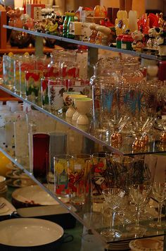 Lots of retro/vintage glassware to choose from...  I always look at the glassware at antique stores !