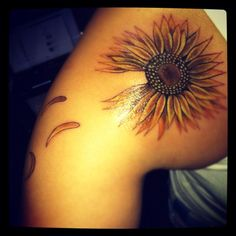 "Sunflower Tattoo. This plus ""unless someone like you cares a whole awful lot, nothing is going to get better.... It's not."""