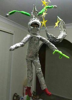 Tin foil spaceman