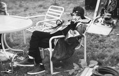 Finn Wolfhard behind the scenes of PUP's 'Sleep In The Heat' video [Photography by Paige Sierra]