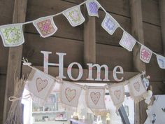 Home is where the heart is....  #vintage #handmade #tillyrose  www.tilly-rose.co.uk