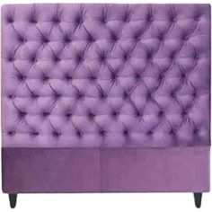 Give your guest room or master suite a feminine touch with this eye-catching headboard, featuring a button-tufted design in purple.