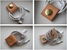Craft: leather ipod earbud holder